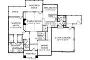 Craftsman Style House Plan - 3 Beds 3.5 Baths 3244 Sq/Ft Plan #453-12 Floor Plan - Main Floor Plan