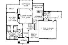 Craftsman Floor Plan - Main Floor Plan Plan #453-12