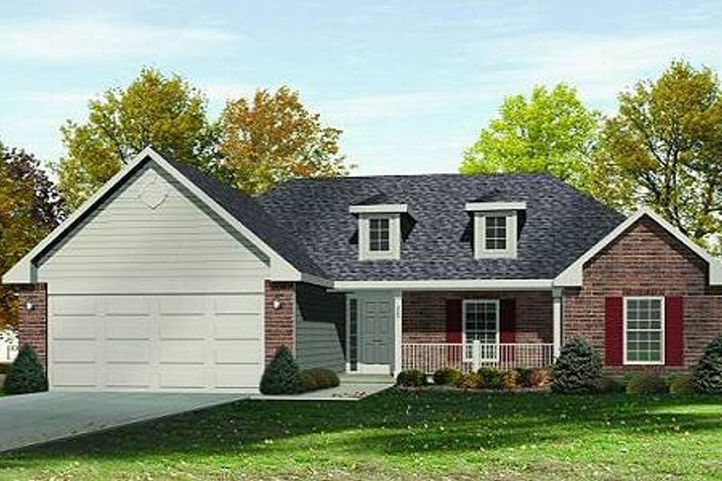 European Style House Plan - 3 Beds 2.5 Baths 1635 Sq/Ft Plan #22-525