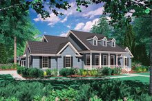 Colonial Exterior - Front Elevation Plan #48-422