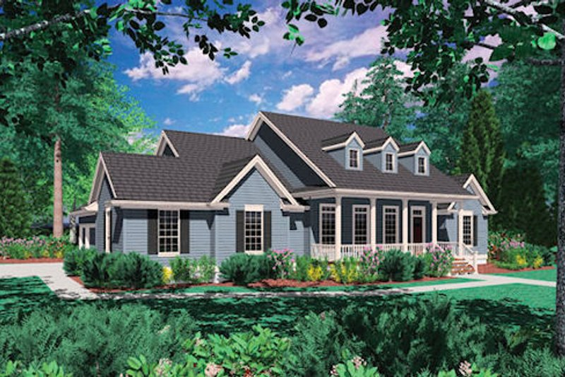 House Plan Design - Colonial Exterior - Front Elevation Plan #48-422