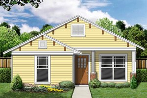 Cottage Exterior - Front Elevation Plan #84-495