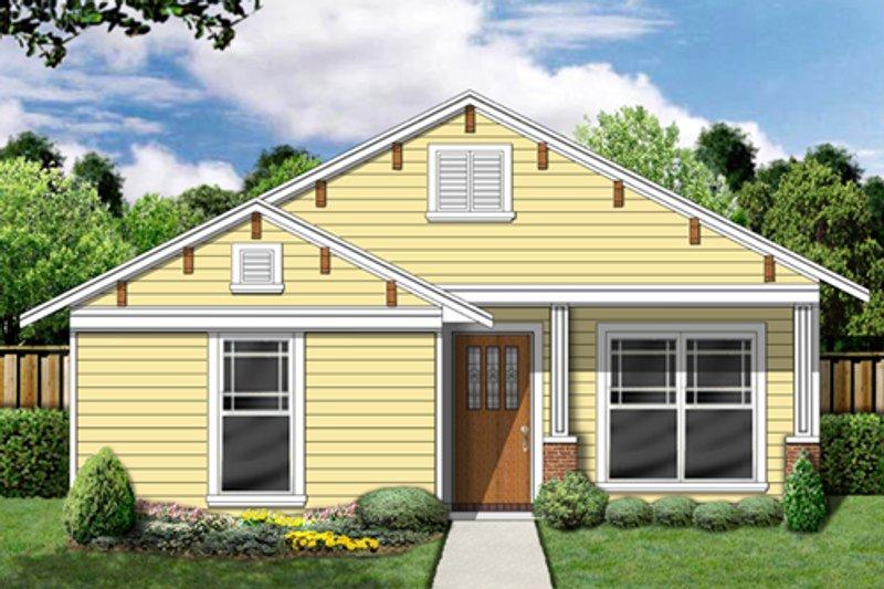 Dream House Plan - Cottage Exterior - Front Elevation Plan #84-495
