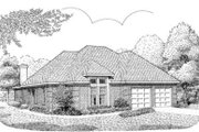 European Style House Plan - 2 Beds 2 Baths 1824 Sq/Ft Plan #410-217 Exterior - Front Elevation