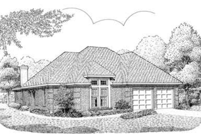 European Exterior - Front Elevation Plan #410-217