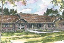 Ranch Exterior - Front Elevation Plan #124-192