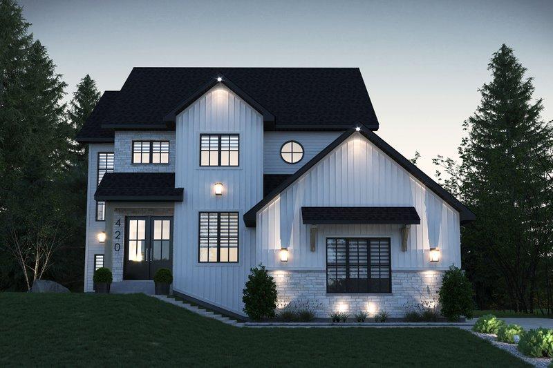 House Design - Farmhouse Exterior - Front Elevation Plan #23-2734