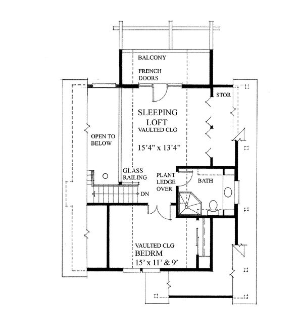 Cottage Floor Plan - Upper Floor Plan Plan #118-169