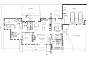 Contemporary Style House Plan - 2 Beds 3 Baths 3441 Sq/Ft Plan #451-24 Floor Plan - Main Floor Plan