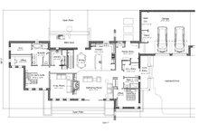 Contemporary Floor Plan - Main Floor Plan Plan #451-24