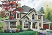Traditional Exterior - Front Elevation Plan #23-409