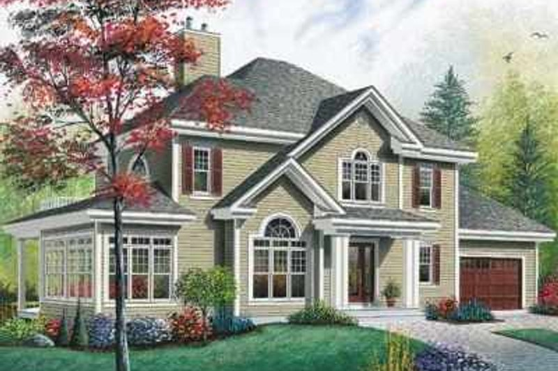 Traditional Exterior - Front Elevation Plan #23-409 - Houseplans.com