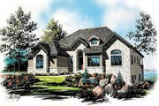 European Style House Plan - 6 Beds 4.5 Baths 2552 Sq/Ft Plan #5-149 Exterior - Front Elevation