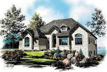 Home Plan - European Exterior - Front Elevation Plan #5-149