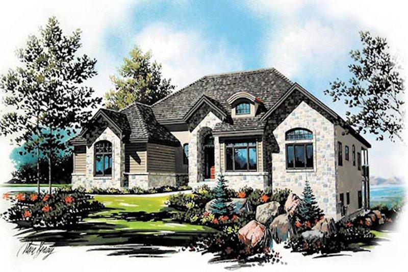 House Plan Design - European Exterior - Front Elevation Plan #5-149