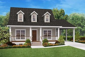 Architectural House Design - Country Exterior - Front Elevation Plan #430-3