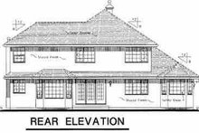 House Blueprint - European Exterior - Rear Elevation Plan #18-241