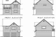 Country Style House Plan - 1 Beds 1 Baths 773 Sq/Ft Plan #47-516 Exterior - Rear Elevation