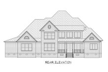 Dream House Plan - Classical Exterior - Rear Elevation Plan #1054-63