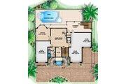 Mediterranean Style House Plan - 3 Beds 5 Baths 5566 Sq/Ft Plan #27-396 Floor Plan - Lower Floor Plan