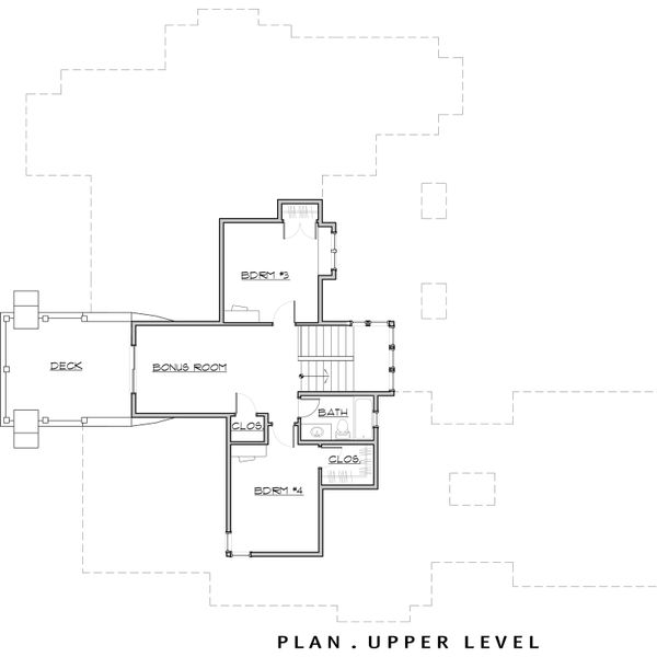 Craftsman Floor Plan - Upper Floor Plan Plan #892-7