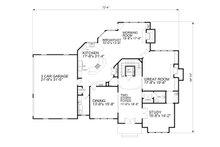 Traditional Floor Plan - Main Floor Plan Plan #30-346
