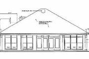 European Style House Plan - 3 Beds 2.5 Baths 1700 Sq/Ft Plan #15-140 Exterior - Rear Elevation