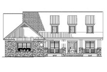 Architectural House Design - Front Elevation BW
