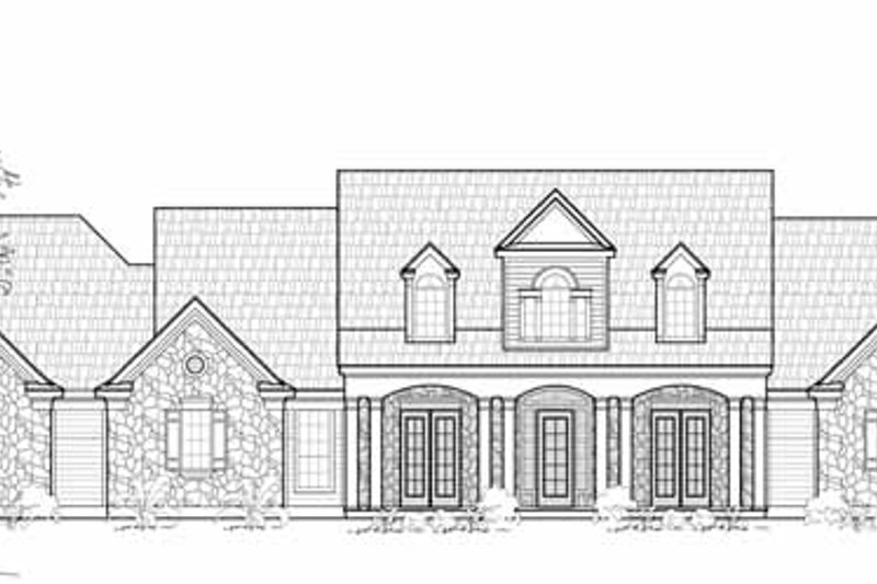 Colonial Exterior - Front Elevation Plan #61-252