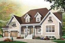 Country Exterior - Front Elevation Plan #23-655