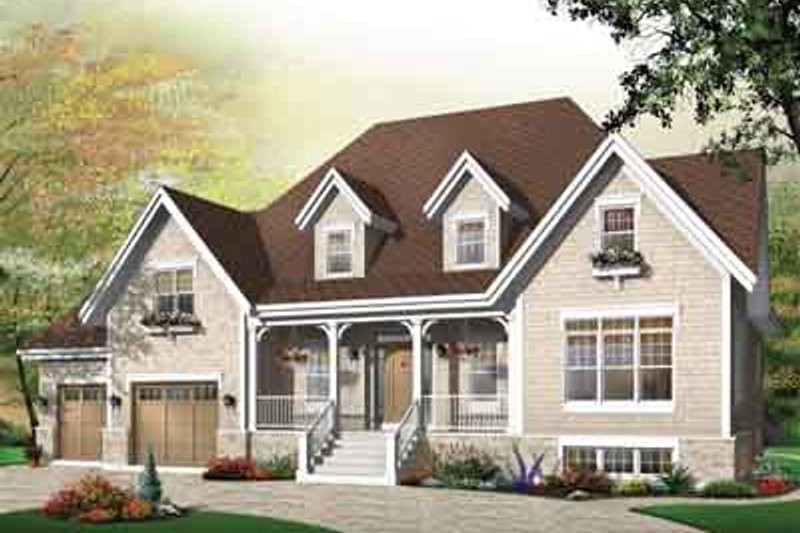 Country Exterior - Front Elevation Plan #23-655 - Houseplans.com