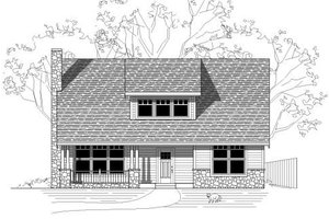Bungalow Exterior - Front Elevation Plan #423-24