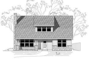 Bungalow Exterior - Front Elevation Plan #423-24
