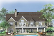 Craftsman Exterior - Rear Elevation Plan #929-431