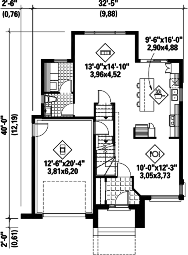 Contemporary Floor Plan - Main Floor Plan #25-4607