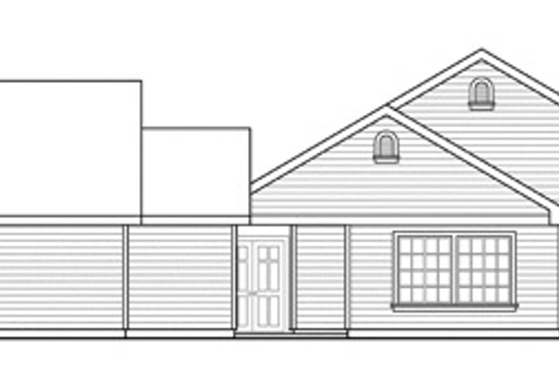 Traditional Exterior - Other Elevation Plan #124-857 - Houseplans.com