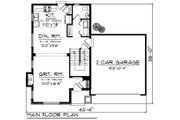 Traditional Style House Plan - 3 Beds 2.5 Baths 1398 Sq/Ft Plan #70-1187 Floor Plan - Main Floor Plan