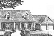 Traditional Style House Plan - 4 Beds 3.5 Baths 2640 Sq/Ft Plan #310-621 Exterior - Front Elevation