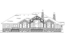 Home Plan - European Exterior - Rear Elevation Plan #5-305