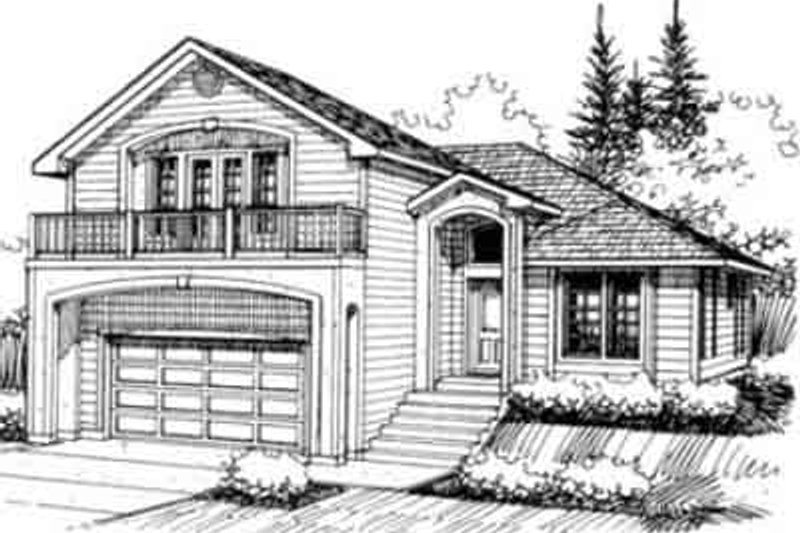 Traditional Exterior - Front Elevation Plan #117-207 - Houseplans.com