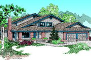 Traditional Style House Plan - 3 Beds 2.5 Baths 2402 Sq/Ft Plan #60-173 Exterior - Front Elevation