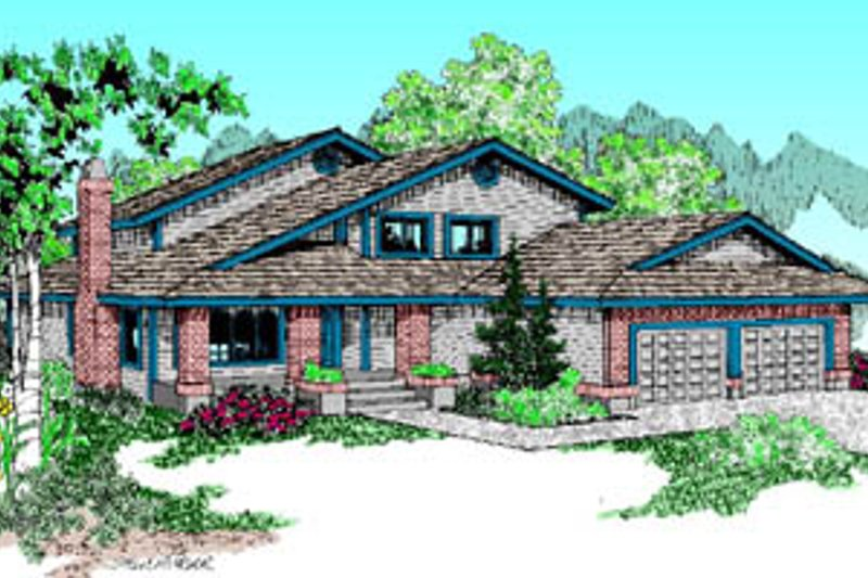 Traditional Exterior - Front Elevation Plan #60-173 - Houseplans.com