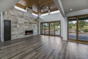 Modern Style House Plan - 4 Beds 4 Baths 3712 Sq/Ft Plan #892-17 Interior - Family Room