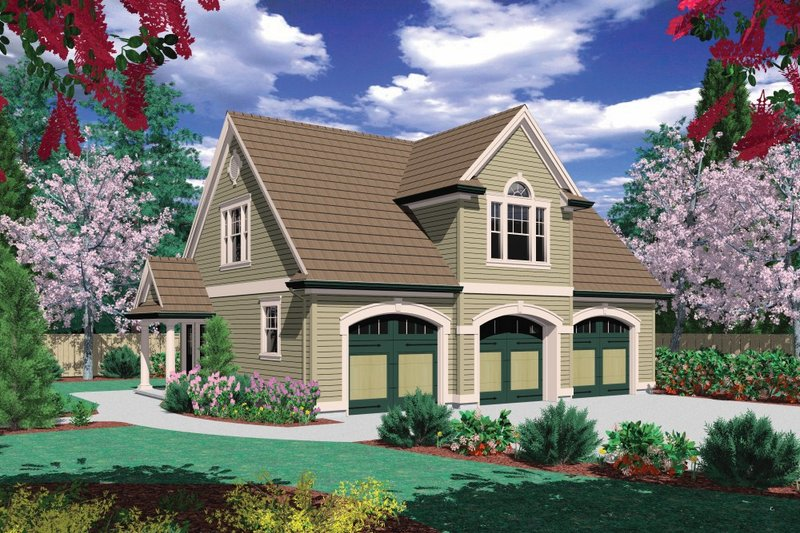 Traditional Exterior - Front Elevation Plan #48-550