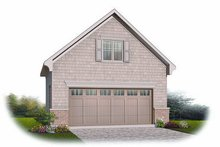 Home Plan - Traditional Exterior - Front Elevation Plan #23-766