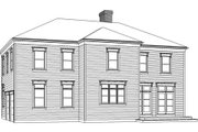 Classical Style House Plan - 4 Beds 3.5 Baths 3000 Sq/Ft Plan #477-7 Exterior - Rear Elevation