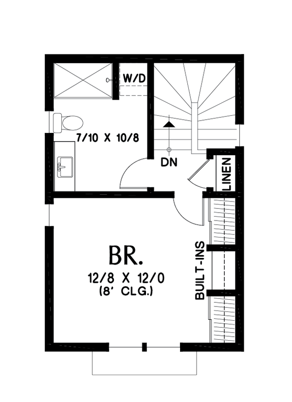 Contemporary Floor Plan - Upper Floor Plan Plan #48-1023