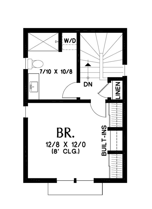 Dream House Plan - Contemporary Floor Plan - Upper Floor Plan #48-1023