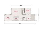 Craftsman Style House Plan - 4 Beds 3 Baths 1824 Sq/Ft Plan #461-60 Floor Plan - Main Floor Plan