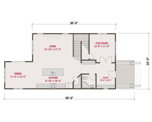 Craftsman Floor Plan - Main Floor Plan Plan #461-60